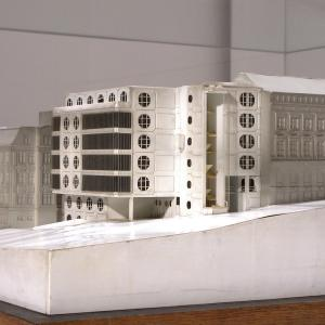 Nerealizovaný projekt Karla Hubáčka na přestavbu Naivního divadla v sedmdesátých letech